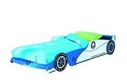 Blaues Rennwagenbett von Demeyere zum Ausziehen