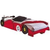 Rotes Formel 1 Rennwagenbett für Kinder mit Matratze