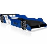 Blaues Formel 1 Rennwagenbett in Holz