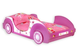 Rosa Mädchenbett aus Holzwerkstoff von Deupa