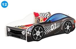 komplett schwarzes Rennwagenbett von Nobiko