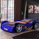 Rennwagenbett in Blau im Kinderzimmer von Phara24