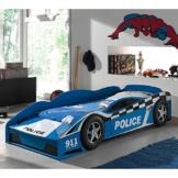 blaues Rennwagenbett im Polizei design von Pharao24