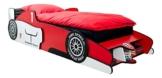 Rennwagenbett in Rot in Form von einem Formel 1 Auto