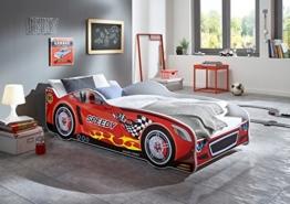 Rotes Rennwagenbett von Relita in Kinderzimmer
