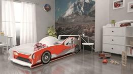 Rotes Formel 1 Kinderbett im Kinderzimmer