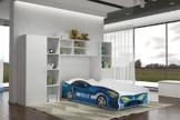 Rennwagenbett von Relita in blau im Kinderzimmer