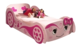 Rosa rennwagenbett für Mädchen