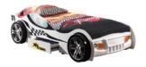 weißes Rennwagenbett mit einschublade unter dem Bett